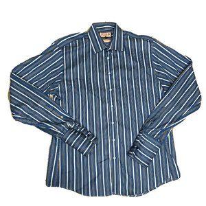 Thomas Pink Blue Black & White Long Sleeve Shirt
